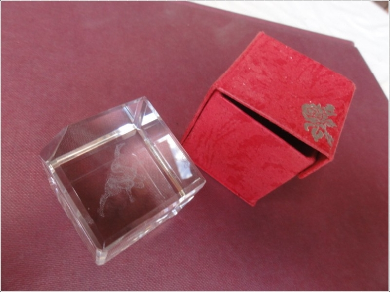 Presse papier cube verre decoration ebay - Presse papier en verre decoration ...
